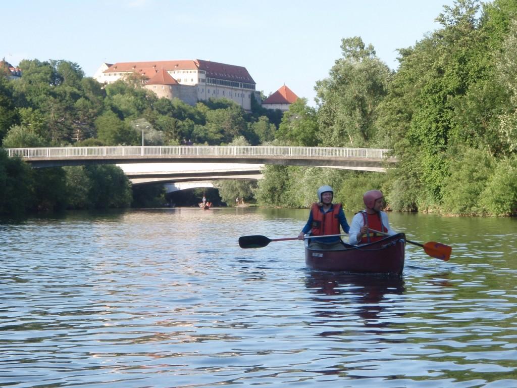 Neckar beim Bootshaus