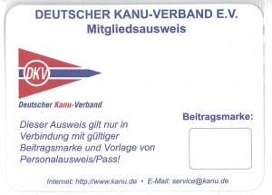 Scan eines DKV-Ausweises ohne Beitragsmarke.